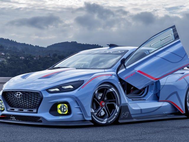 Невероятный 374 лошадиных сил Hyundai RN30 Racing Concept - гонка - день, который нам нужен