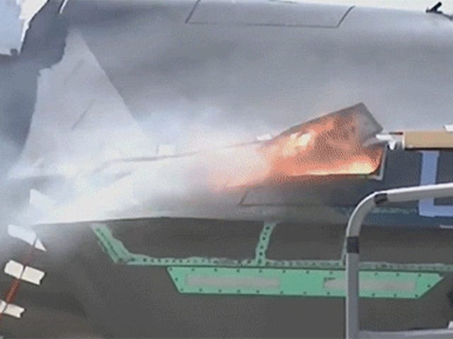 Watch the first aerial test of the F-35's gatling gun