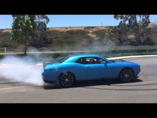 Hooniverse Behind the Scenes: Challenger Scat Pack Shaker Rips Some Donuts