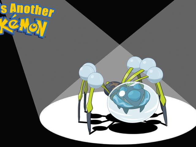 Araquanid drunknar liten Pokémon i sin vattenbubbelhjälm