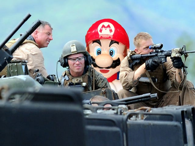 The USMC would like you to know that being in armed combat is exactly like playing <i>Super Smash Bros.</i><em></em>