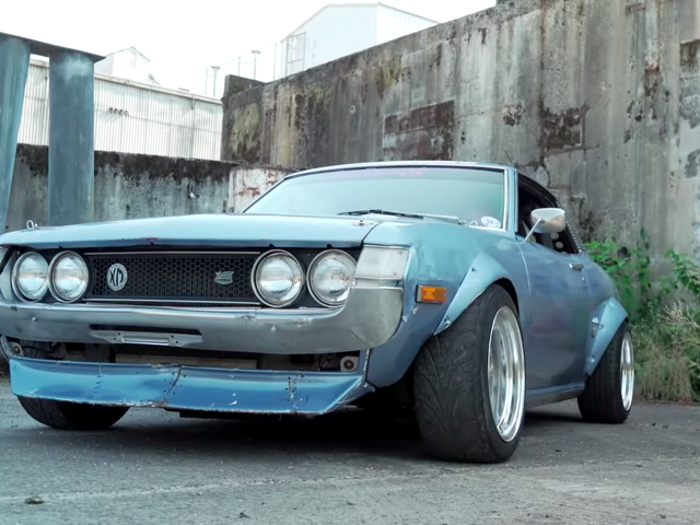America's Coolest Drift Car Is This Engine-Swapped 1973 Toyota Celica