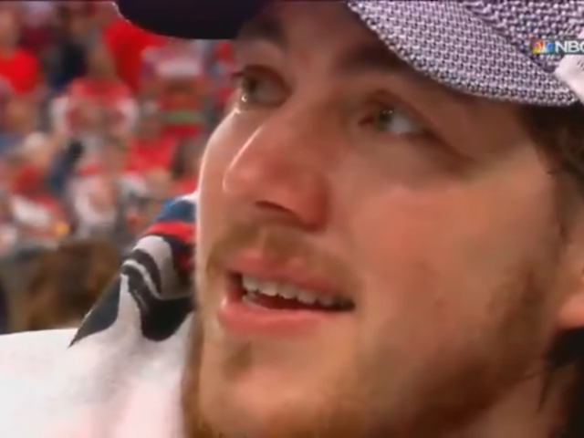 An Emotional T.J. Oshie Describes Winning The Cup In Front Of Father, Suffering Dementia