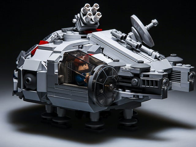 This micro Lego Millennium Falcon is quite cute
