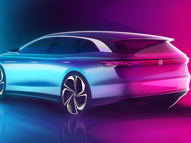 Volkswagen Calls The ID. Space Vizzion A Crossover But It's A Damn Wagon, Folks
