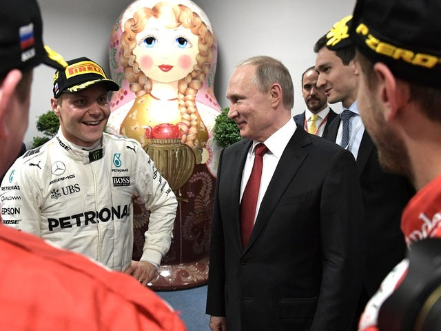 Valtteri Bottas Takes Pole Position at Sochi for a Mercedes Front Row Lockout