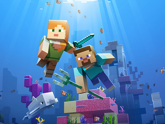 Minecraft의 Update Aquatic의 첫 번째 부분은 오늘 Xbox One, PC, 모바일 및 다양한 VR 플랫폼에서 제공됩니다.  마침내 발표 ...