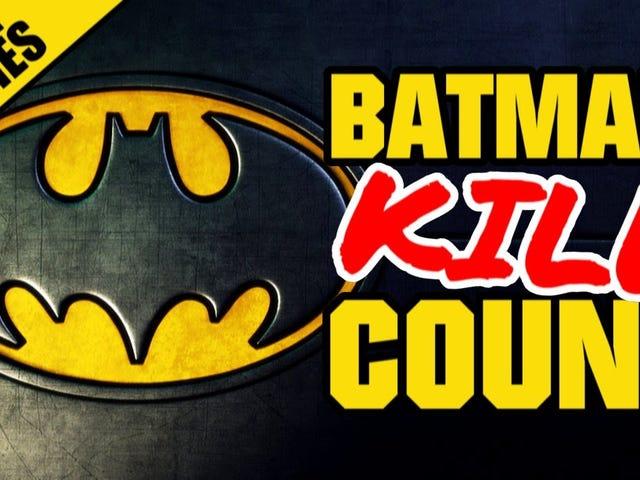 Supercut: tous les gens que Batman a tués tout au long de sa carrière au cinéma