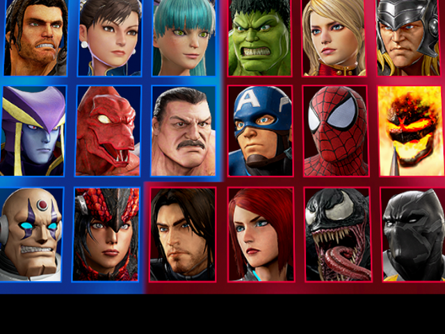Marvel vs. CapcomPulls Attention From Ugly Characters With Ugly Select Screen