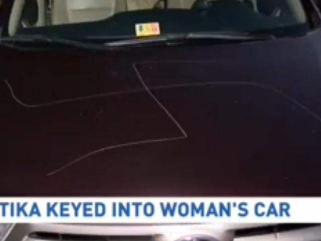 Swastikas se rascaron en el vehículo de 74 años de Virginia. SUV de mujer: informe
