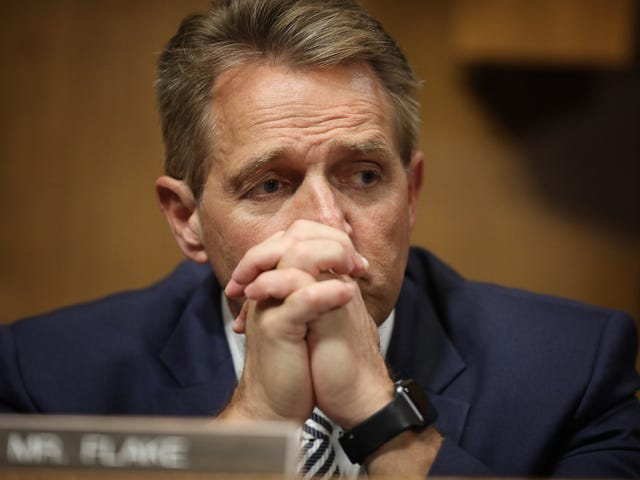 Sexual Assault Survivors Confront Sen. Jeff Flake: 'Look at Me and Tell Me That It Doesn't Matter What Happened to Me'