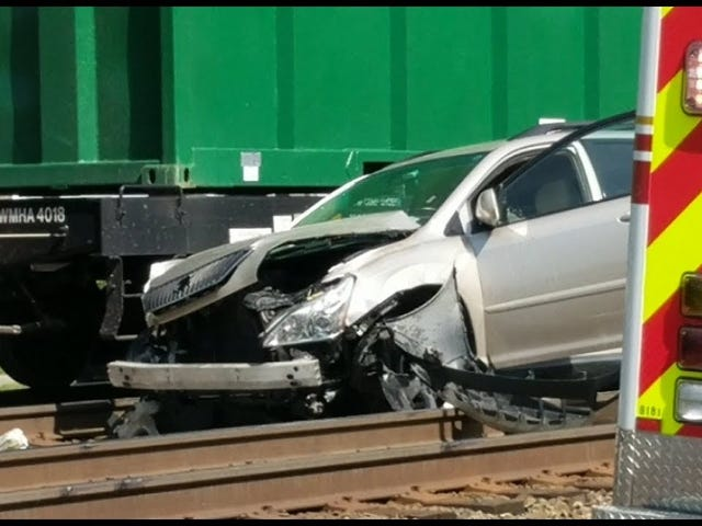 Another car on the tracks in Ashland