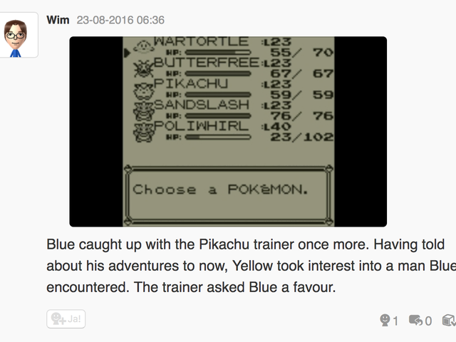 Let's play Pokemon Blue, Miiverse style part 4