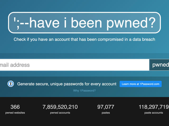 For Sale: Have I Been Pwned
