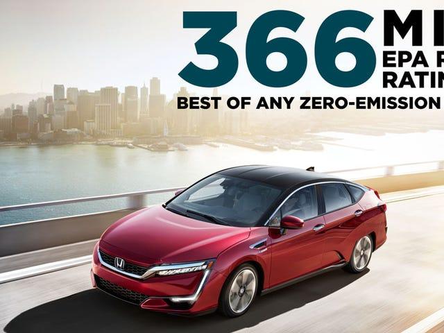 Disfruta de la gama de 366 millas de tu Honda Clarity en cualquier lugar que desees solo en California
