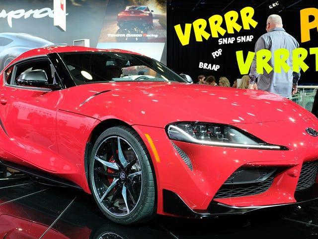हर वीडियो मैं 2020 टोयोटा सुप्रा के निकास ध्वनि का पता लगा सकता है