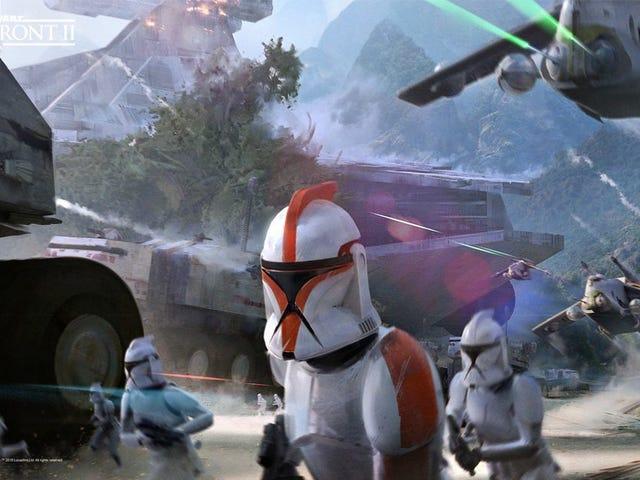 เกมคอนเซ็ปต์ Star Wars Battlefront II นี้แทบจะสวยพอ ๆ กับตัวเกม