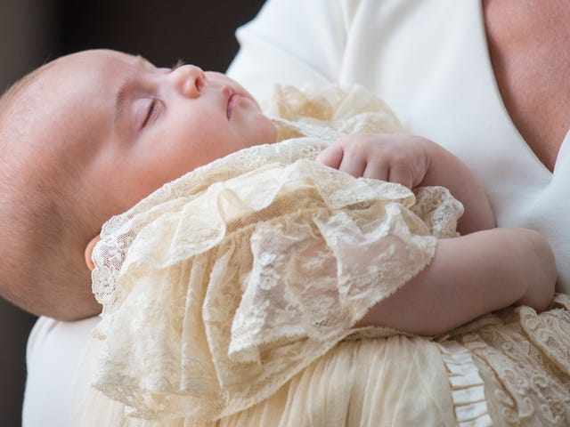 Prince Louis, Already Bored of This Royalty Shit, Arrives Sound Asleep for His Own Christening