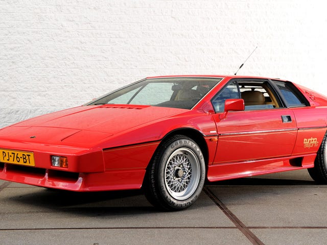 The 1981 Lotus Esprit Turbo Has A Hidden Second Spoiler Because It Made Too Much Downforce