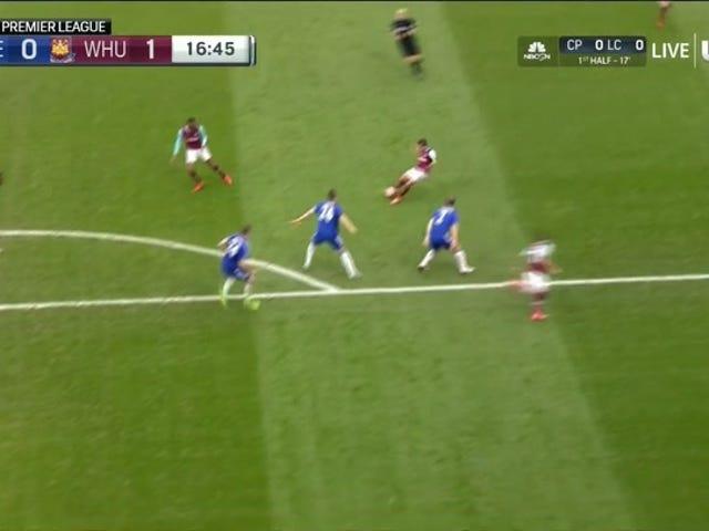 Manuel Lanzini Rocket Goal setzt West Ham auf Chelsea