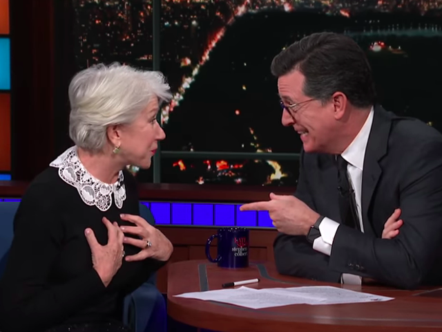 Helen Mirren tells Stephen Colbert about her leading men, from a stoned Peter O'Toole to Patrick Stewart's great body