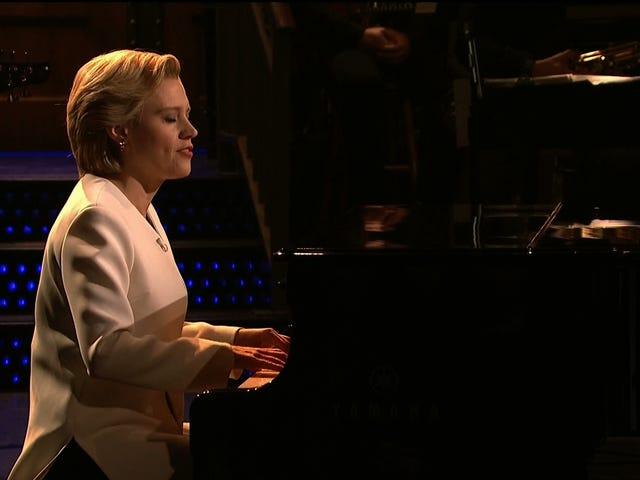 "SNL Cold Open:Kate McKinnon, Playing Leonard Cohen's ""Hallelujah"""