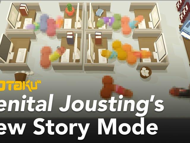 El nuevo modo de historia de Jousting genital te permite jugar como un pene con problemas