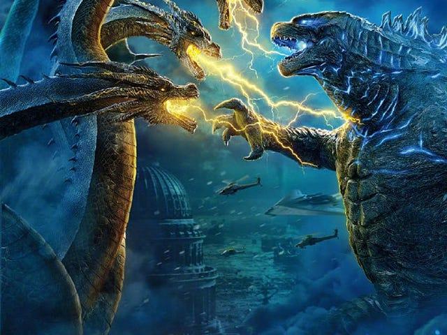 Så Godzilla i går aftes.  Længe leve kongen!