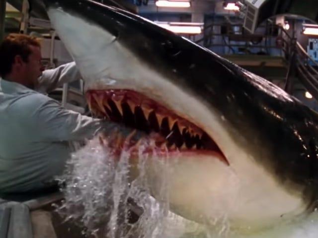 Stellan Skarsgård의 Deep Blue Sea 죽음 장면의 수학적 모델로 상어 주간 오프 캡