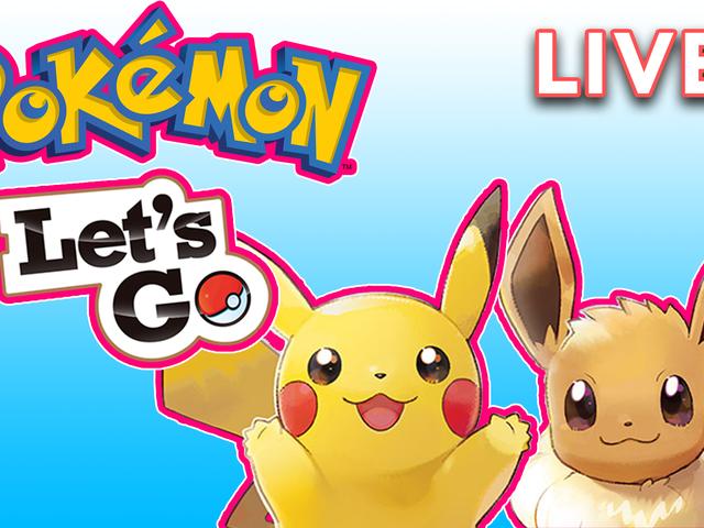 Estamos jogando Pokémon Let's Go Eevee no nosso canal Twitch.  Gita vai mostrar ao mundo dela