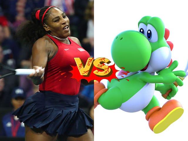 Serena et Venus Williams jouent dans un tournoi de tennis Mario