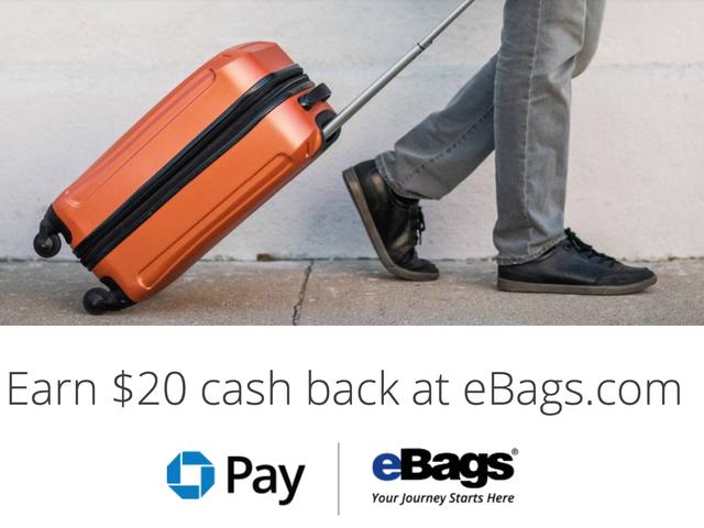 あなたがチェースカードを持っているなら、あなたは今eBagsで本当に20ドルを使うべきです