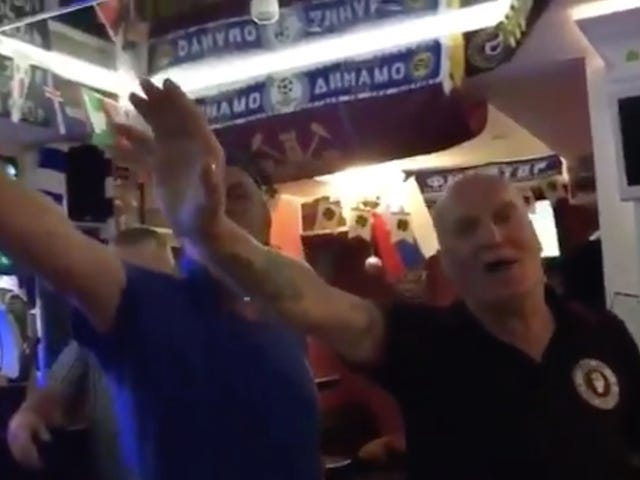 Here Are Some Old Englishmen Doing An Anti-Semitic Soccer Chant And Saluting Hitler