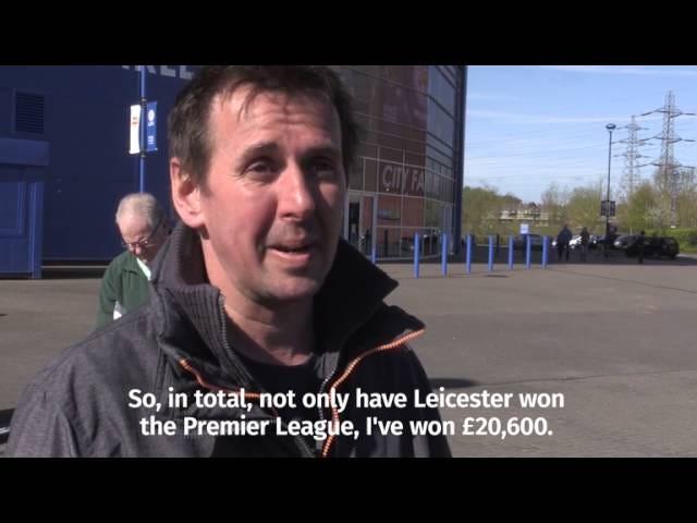 Fan赢得£20,600£5 Bets莱斯特将赢得英超联赛
