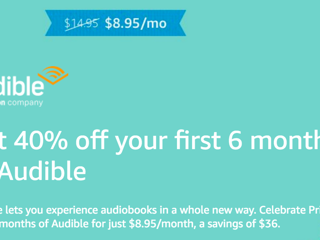 Get Your First Six Months of Audible For 40% Off, and Keep Your Books Forever