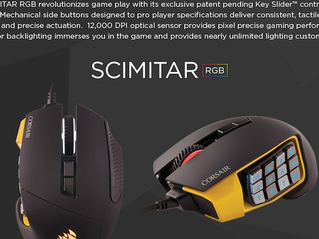 Corsair's Sleek Scimitar MMO Mouse Is Priced To Macro At $60 Today