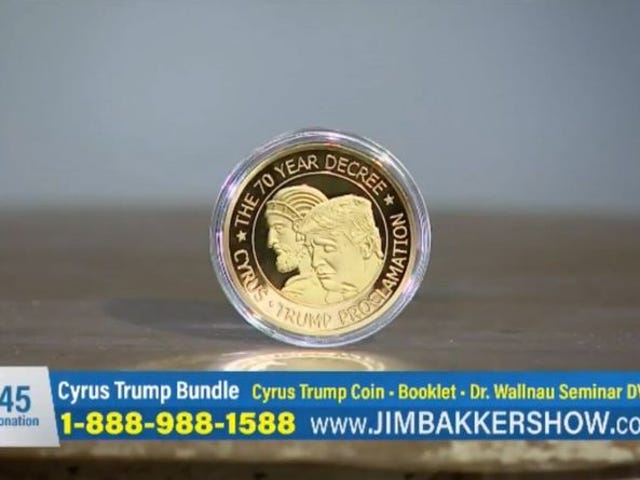 Televangelist Jim Bakker Is Hawking a $45 Trump Prayer Coin, Calls It 'Point of Contact' With God