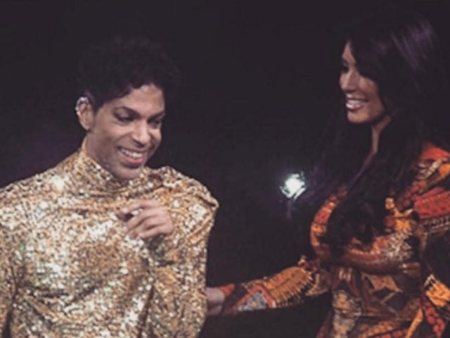 Kim Kardashian Is Spinning that Time Prince Kicked Her Ass Off the Stage