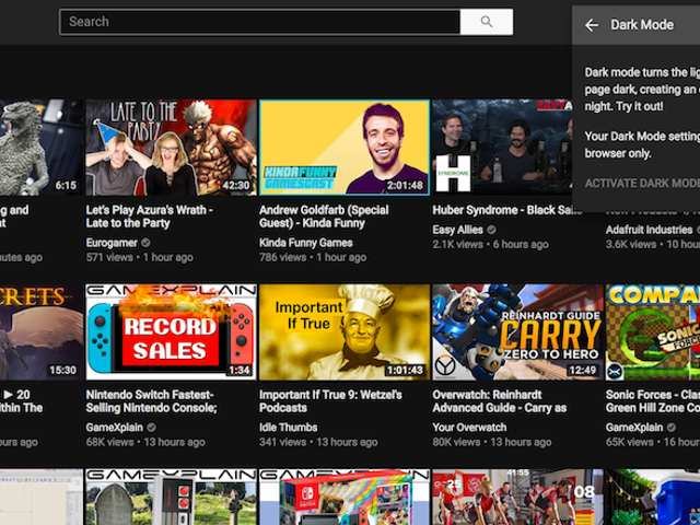 Cómo activar el nuevo tema oscuro de YouTube con solo dos clics