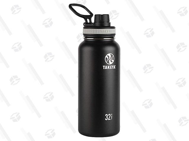 Get a Takeya 32 Oz. Vacuum-Insulated Stainless Steel Water Bottle For $15