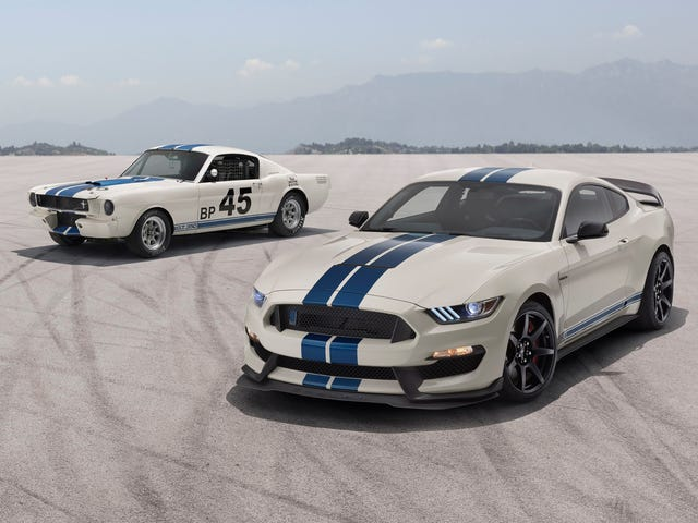Ford Presents Rare Opportunity To Buy White Mustang With Blue Stripes