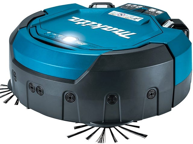 Makita's Robo-Vac Uses Power Tool Batteries to Clean Workshop Floors For Hours