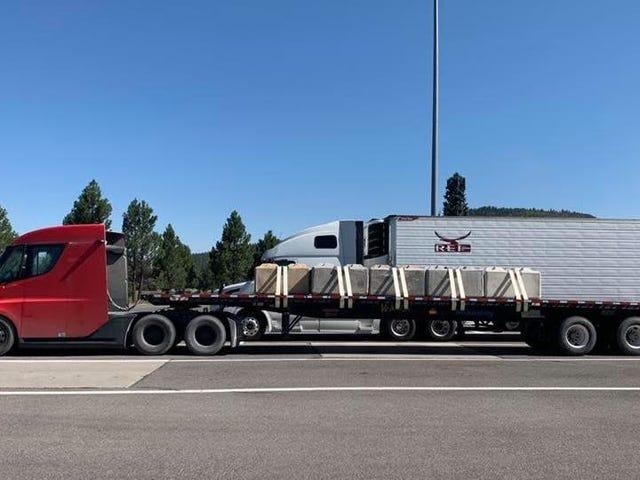 The Tesla Semi-Truck Is Getting Put To Work