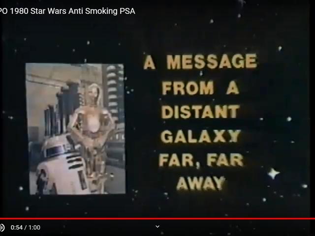 1980 R2-D2 PSA anti-fumo