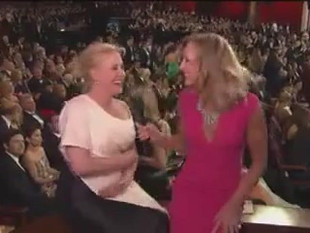 """Ubriaco Patricia Arquette agli Oscar: """"Guarda questo posto.  Eccomi qui'"""