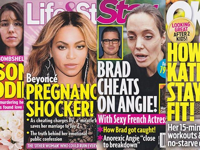 Denne uken i tabloids: Brad Pitt kan bli kjekt Marion Cotillard og Angie kan ha en sammenbrudd