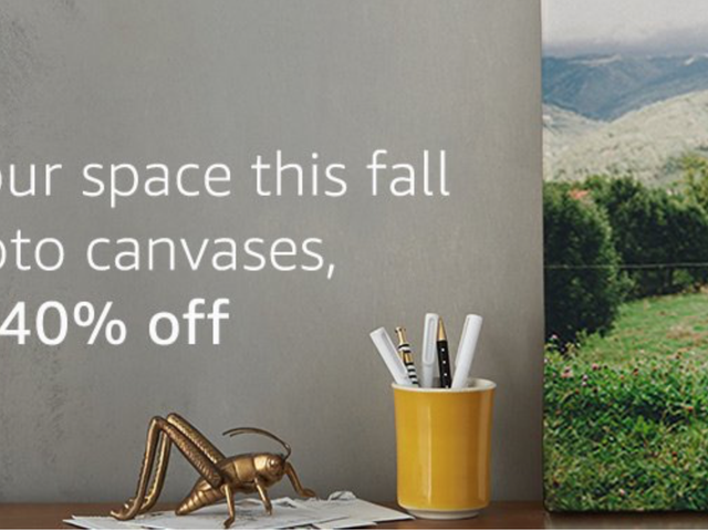Amazon Does Canvas Prints Now, and You Can Get Them For 40% Off