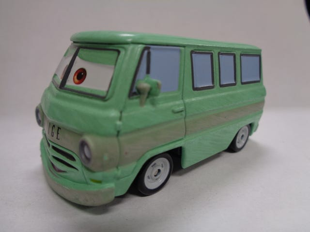 PIXAR'S DUSTY RUST EZE (DODGE A100 VAN) BY MATTEL