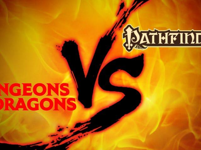 Bảng giới thiệu rpg: <i>Dungeons & Dragons 5E</i> vs. <i>Pathfinder</i>