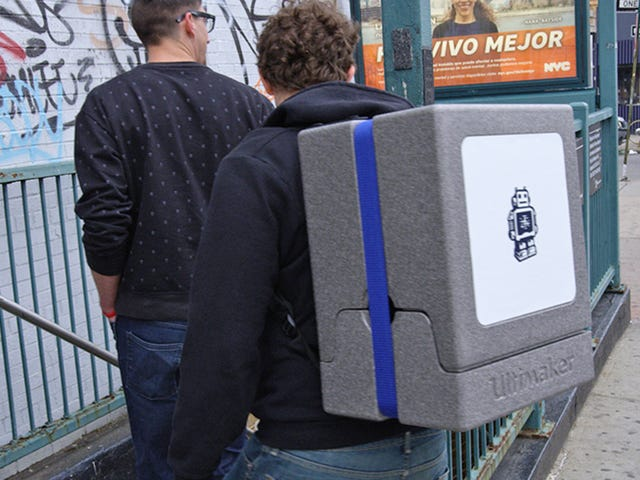 Make Your Subway Commute a Nightmare With a 3D Printer Backpack
